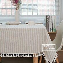 Moderne minimalistische Tuch-Stoff-Baumwollauflage ist rechteckiger Tischdecke-runder Garten, Beige, 60X60Cm