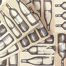 Moderne minimalistische Weinflasche des nordischen