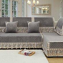 Moderne minimalistische Winter Plüschsofa Kissen/ Stoff Slip Sofa Handtuch-B 75x160cm(30x63inch)