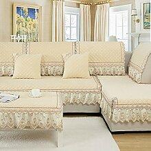 Moderne minimalistische Winter Plüschsofa Kissen/ Stoff Slip Sofa Handtuch-C 95x210cm(37x83inch)