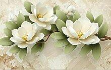 Moderne Mode geprägte Blume 3d Tapete TV