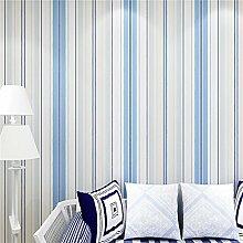 Moderne Mode Horizontal Weiß-Blau Gestreifte Tapete Für Wohnzimmer Schlafzimmer - Blau