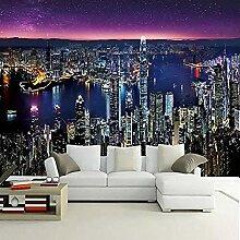 Moderne Nachtansicht Gebäudeserie