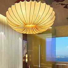Moderne neue chinesische Stoff Kronleuchter kreative Romantik Restaurants Restaurant Salon Lampe Lampe Deckenleuchte Yoga-Pavillon, Durchmesser 80cm gelb