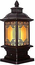 Moderne nostalgische und elegante Säulenlampe,