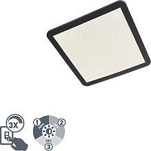 Moderne quadratische Deckenleuchte 40 cm schwarz
