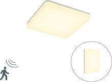 Moderne quadratische Deckenleuchte weiß inkl. LED