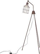 Moderne runde Stehlampe mit Stativ braun - Wanda