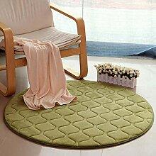 Moderne runde Teppich rutschfeste Baumwolle