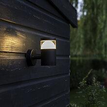 Moderne runde Wandleuchte schwarz inkl. LED - Prim