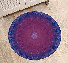 Moderne rutschfeste waschmaschinenfest Runde Bereich Teppich Wohnzimmer Schlafzimmer Bad Küche Soft Teppich Boden Matte Home Dekor,80x80 CM