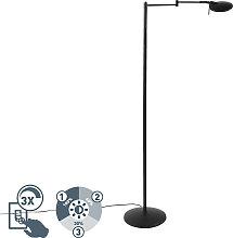 Moderne schwenkbare Leselampe schwarz inkl. LED
