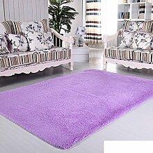 moderne Seide Volltonfarbe Teppiche/Schlafzimmer Wohnzimmer Sofa-Bettdecke/ Wand an Wand Fenster Mat-H 160x230cm(63x91inch)