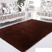 moderne Seide Volltonfarbe Teppiche/Schlafzimmer Wohnzimmer Sofa-Bettdecke/ Wand an Wand Fenster Mat-J 80x160cm(31x63inch)