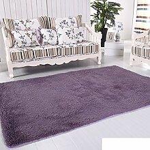 moderne Seide Volltonfarbe Teppiche/Schlafzimmer Wohnzimmer Sofa-Bettdecke/ Wand an Wand Fenster Mat-F 140x200cm(55x79inch)