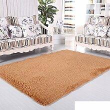 moderne Seide Volltonfarbe Teppiche/Schlafzimmer Wohnzimmer Sofa-Bettdecke/ Wand an Wand Fenster Mat-D 160x200cm(63x79inch)