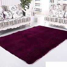 moderne Seide Volltonfarbe Teppiche/Schlafzimmer Wohnzimmer Sofa-Bettdecke/ Wand an Wand Fenster Mat-G 100x160cm(39x63inch)