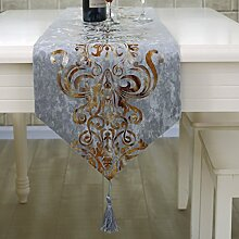 Moderne simple mode tischläufer und tuch europäisch luxus chinesische art american style land tisch tuch stoffe tee tischdecke bett-runner-C 33x250cm(13x98inch)