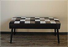 Moderne Sitzbank Schwarz Weiß Karo
