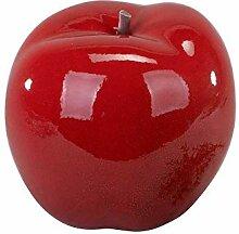 Moderne Skulptur Apfel aus Keramik in Klassik rot