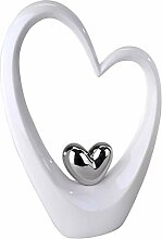 Moderne Skulptur in Form eines Herzens