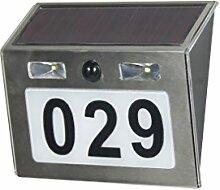 Moderne Solar-Hausnummerleuchte mit