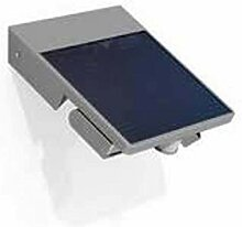 Moderne Solarlampe in silber grau 4 * 1W Wandlampe