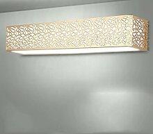 Moderne Spiegel Frontleuchte LED leuchtet Nachttischlampe Schlafzimmer Wandleuchte ( Farbe : Earthly gold , größe : 38cm )