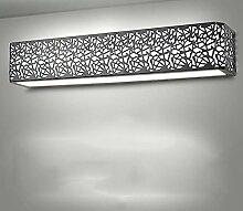 Moderne Spiegel Frontleuchte LED leuchtet Nachttischlampe Schlafzimmer Wandleuchte ( Farbe : Schwarz , größe : 62cm )