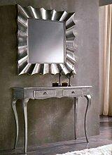 Moderne Spiegel : Modell KOPERNIKUS silber
