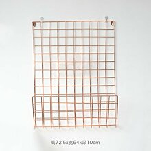 Moderne Stacheldraht eiserne Wand Bilder ins Grid rack Nordic minimalistischen plating Wanddekoration Kleiderbügel, Rose Gold