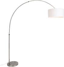 Moderne Stahlbogenlampe mit Schirm 50/50/25 weiß