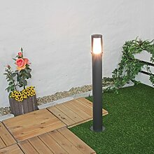 Moderne Standleuchte in Anthrazit inkl. 1x 12W E27