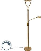 Moderne Stehlampe Bronze inkl. LED mit Lesearm -