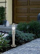 Moderne Stehlampe (Edelstahl, Klar, Höhe 50cm,
