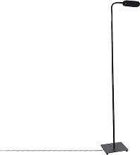 Moderne Stehlampe schwarz inkl. LED 4-stufig