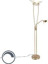 Moderne Stehleuchte Bronze inkl. LED und Dimmer -