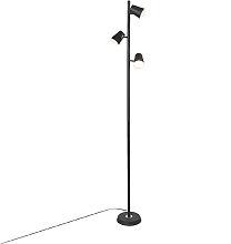 Moderne Stehleuchte schwarz 3-flammig inkl. LED
