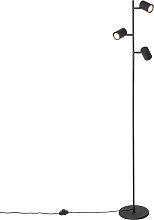 Moderne Stehleuchte schwarz 3-flammig - Jeana