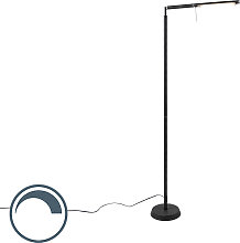Moderne Stehleuchte schwarz inkl. LED dimmbar -