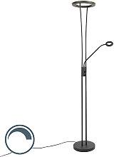 Moderne Stehleuchte schwarz inkl. LED mit Lesearm