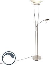 Moderne Stehleuchte Stahl inkl. LED und Dimmer -