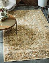 Moderne Stockholm Zeitgenössische Bereich Teppich, beige, 7 x 10
