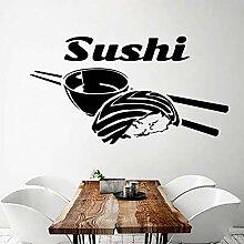 Moderne Sushi Umweltschutz Vinyl Aufkleber für