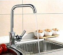Moderne Swivel Messing Küchenarmatur Warmen Und
