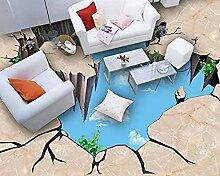 Moderne Tapete 3D Bodenfliesen Heimwerker Marmor