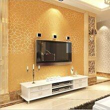 Moderne Tapete Beige Farbe: Weiß Lotus Schlafzimmer Wohnzimmer TV 3D Tapete 3D Wallpaper B