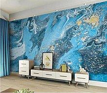 Moderne tapete blau abstrakt marmor strukturierte