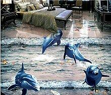 Moderne Tapete Design Bodenfliese l Wohnzimmer 3d