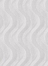 Moderne Tapete Design Wellen mit Glitter Farben Weiß Perle und grau in TNT Effekt Stoff waschbar Central Park 5959–10.